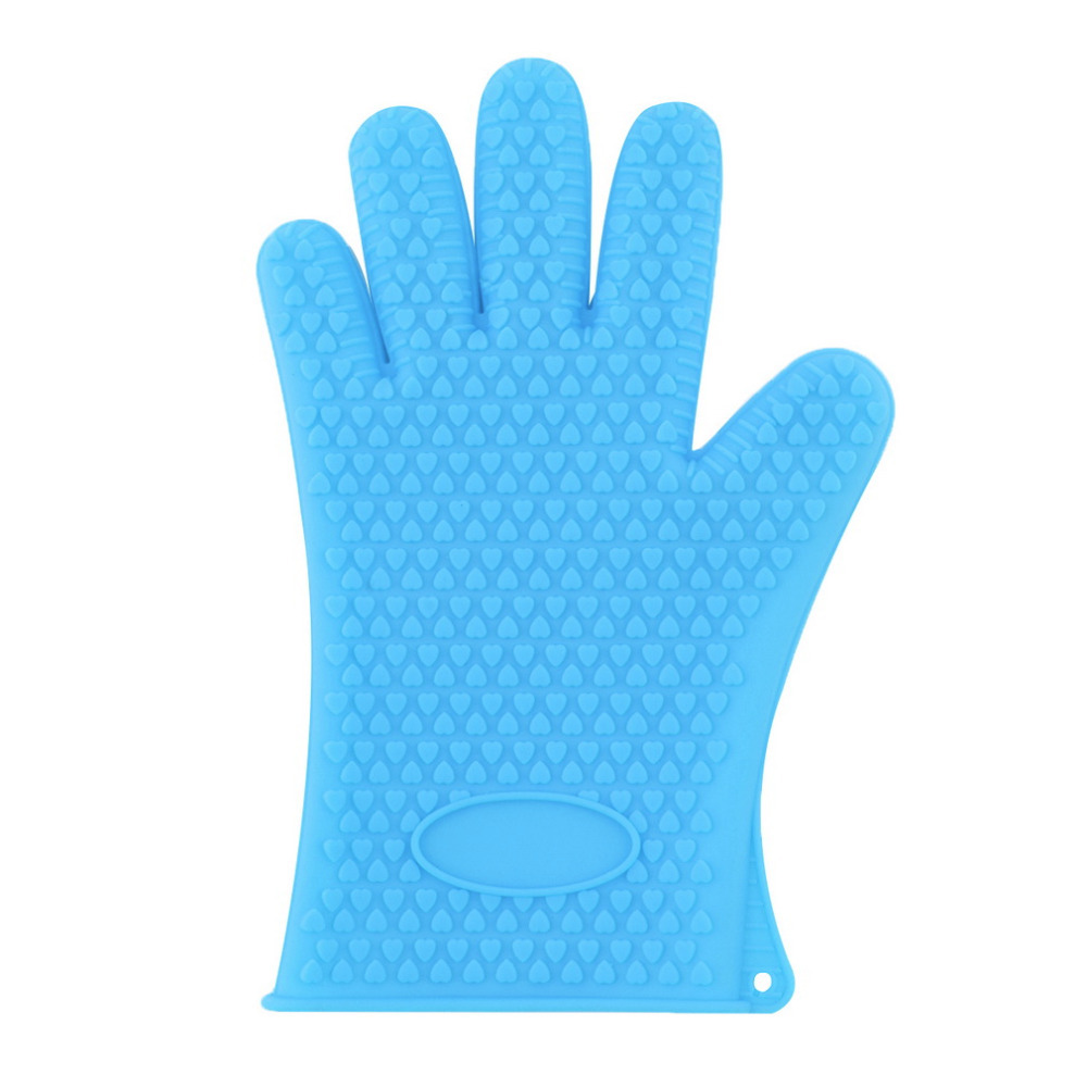 Heat Resistant Silicone Glove Cooking Baking Bbq Oven Pot Holder Mitt Kitchen Blue In Mitts Sleeves From Home Garden On Aliexpress