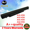 4cells laptop battery  A31-K56 A32-K56 A41-K56 A42-K56  FOR asus A46 A56 K56  Ultrabook V550 E46 U48 U58 K46C S40 S46 R405
