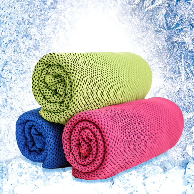 30x100 cm 2 stks microfiber coolcore stof sport handdoek strandlaken30x100 cm 2 stks microfiber coolcore stof sport handdoek strandlaken, sneldrogend voor zwemmen