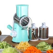 Multifunctional Manual Vegetable Cutter Slicer Kitchen Accessories Round Mandoline Slicer Potato Cheese Kitchen Gadgets
