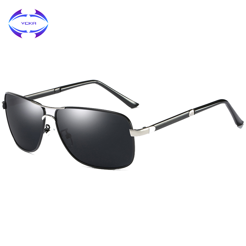 VCKA High quality Fashion Mens Driving Sunglasses 100% Polarized Aluminum Alloy Frame Glasses Eyewear Accessories For Men