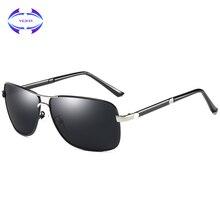 46592653abc16 VCKA Condução óculos de Sol dos homens de Alta qualidade Da Moda 100%  Acessórios de Alumínio Frame Da Liga de Óculos Polarizados.