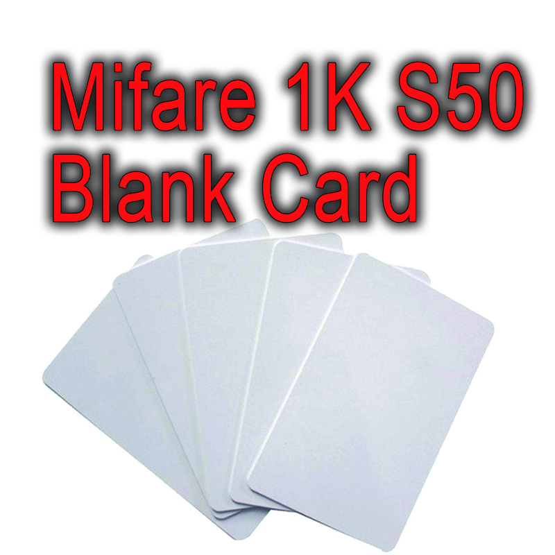 100pc 13.56MHz rfid ic blank smart card contactless promixity fm1108 f08 original mifare classic 1k s50 white id loyalty card loyalty