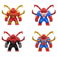 New Super Heroes Avengers Marvel: Infinity War Hulk Thanos Gloves Spider Man Building Blocks toy