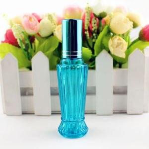 Image 3 - 10 יח\חבילה 15ml צבעוני זכוכית בושם בקבוק עבה מיני ריקים אריזות קוסמטיות בקבוק תרסיס למילוי חוזר זכוכית בקבוקוני