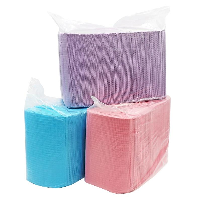 125pcs/pack Dental Disposable Towel Scarf Disposable Drape Medical Paper Scarf Water-Resistant Tattoo Bib Dental Pad