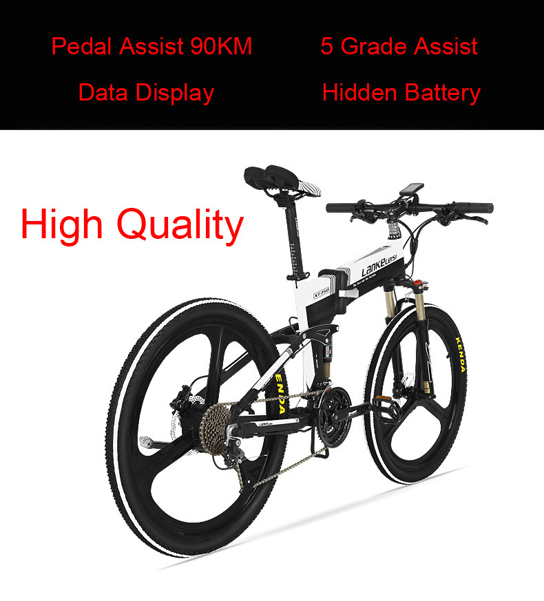HTB1eeYUbcnrK1RkHFrdq6xCoFXaz - 27 Pace Electrical Scooter 48V Electrical Bicycle 240W Hydraulic Disc Brake and Oil Suspension Grownup Folding Moveable Electrical Bike