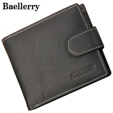 Baellerry Genuine Leather Men Wallets Purse Money Bag Fashion Male Wallet Card Holder Coin Purse Wallet Men MWS023