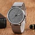 KEVIN Moda Casual Breve Vestido Banda De Malha De Aço Inoxidável Senhoras Pulseira de Relógio de Quartzo relógios de Pulso das Mulheres Presente Simples Novo Na Moda