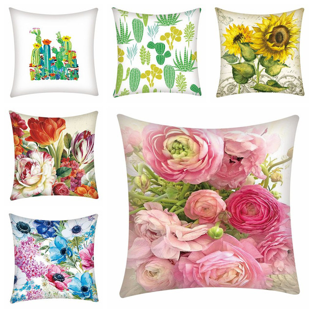 Print Pillowcase Polyester Sofa Car Cushion Cover Home Decor 45X45cm Throw Pillowcases Pillow Covers Home Decor Dropshipping