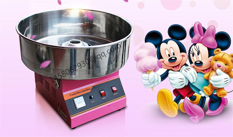 pink cotton machine