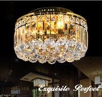 modern europe golden chrome K9 crystal ceiling lamp light living room restaurant entrance lighting