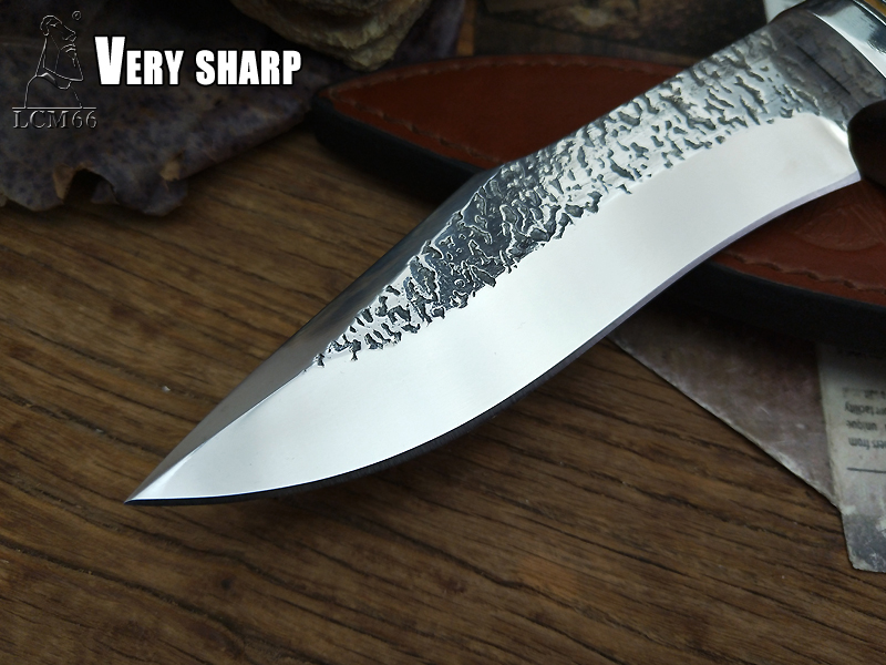 Tools : LCM66 Forge hand made knives jacht rechte mes tactische knifeFixed MessenPrecious handleCamping Rescue Mes gereedschap sharp