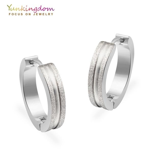 Yunkingdom Stainless Steel Hoop Earrings For Women Fashion Small