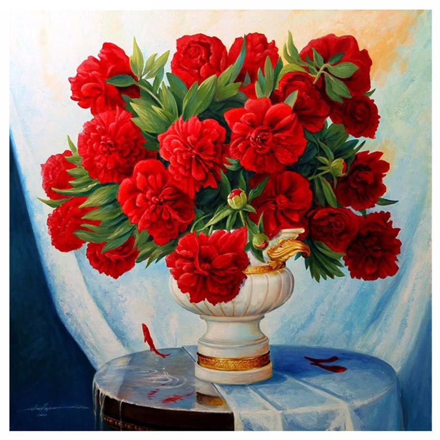 Aliexpress buy d diy diamond painting flower cross