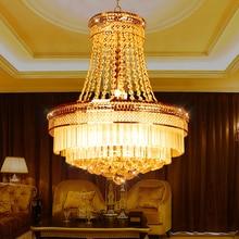 Лучшие Продажи золота гостиной светильник современная столовая Хрустальная люстра Моды Роскошь Лампы Для подвешивания Dia46 * H55cm