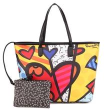 ROMERO BRITTO Hot Sale Handbags Big Bag 2015 New Ms. Messenger Large Capacity Minimalist Shoulder Bag Handbag Japan Korean Style