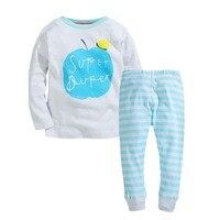 New Autumn Girls Pajamas Sets Children Clothes Cotton Kids Pajama Brand Baby Girls Sleepwear Fall Girl