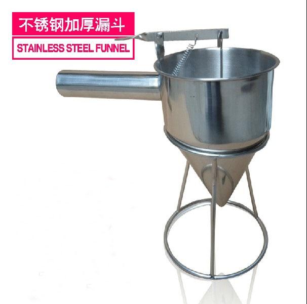 Stainless steel Batter dispenser Takoyaki tooks Taiyaki funnel Takoyaki filler  egg liquid batter dispenser waffle hopper takoyaki ice pop making tool distributor full stainless steel