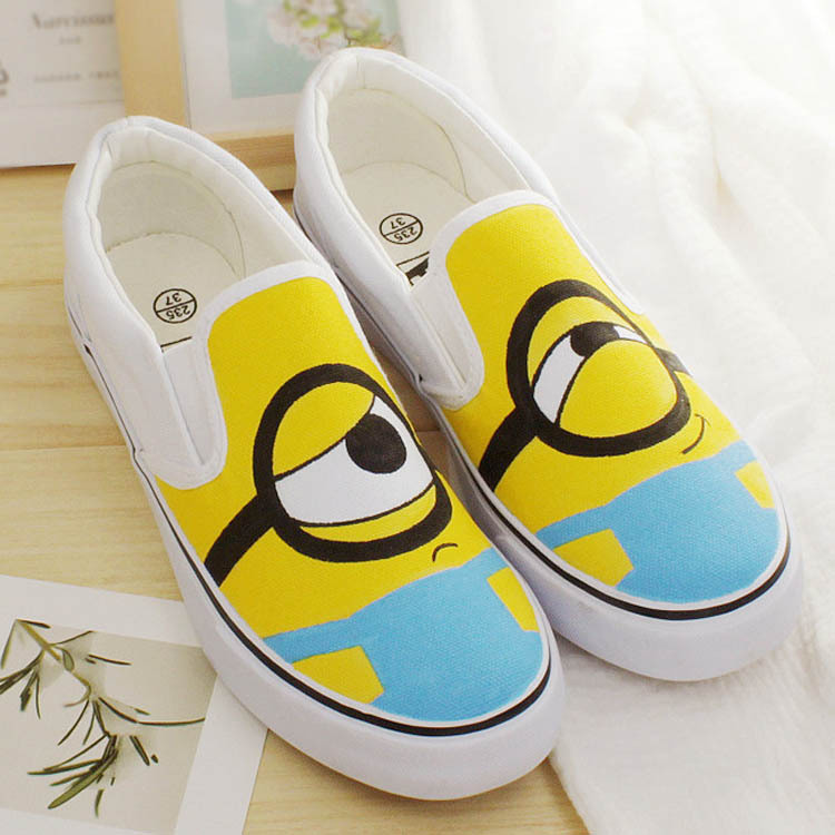 Eu Size 35 44 Fashion Anime Figure Despicable Me Minion Shoes