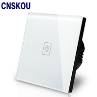 Free Shipping SANKOU UK Touch Switch Wall 1G1W Luxury White Crystal Glass Touch Sensitive LED Smart