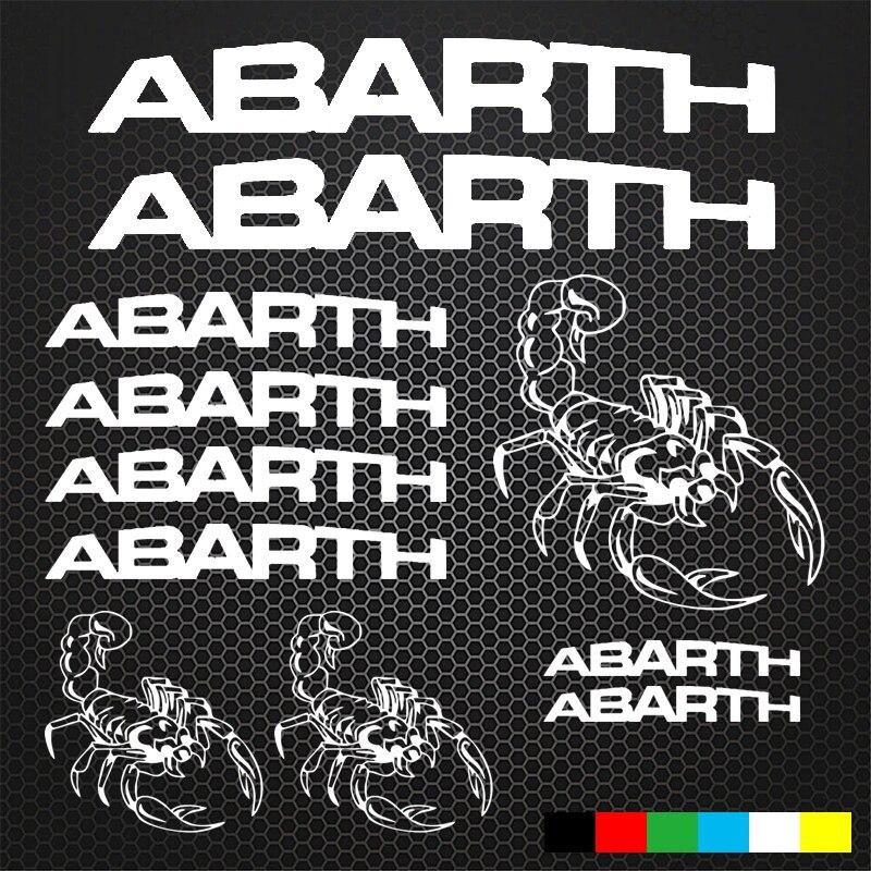 9pcs/set ABARTH Mounting Rims Alloy Wheel Decals Stickers for Fiat ABARTH Rims Alloy Wheel Decals Stickers 500 500C (YONGXUN ) abarth фиат ритмо запчасть