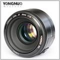 Yongnuo yn 50mm f1.8 lente af/mf gran apertura de la lente de enfoque automático para canon eos 60d 70d 5d2 5d3 7d2 750d 650d 6d dslr cámaras