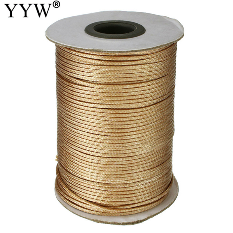 100Yards/PC Nylon Cord Necklaces Safe Kumihimo Silicone Teething Beads gold color Jewelry Beading Necklace Cord Accessories