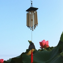 65cm Large 16 Tubes Solid Wood Retro Copper Alloy Wind Chime Chinese Style Mascot Pendant Outdoor Chimes Garden Pipes Bell