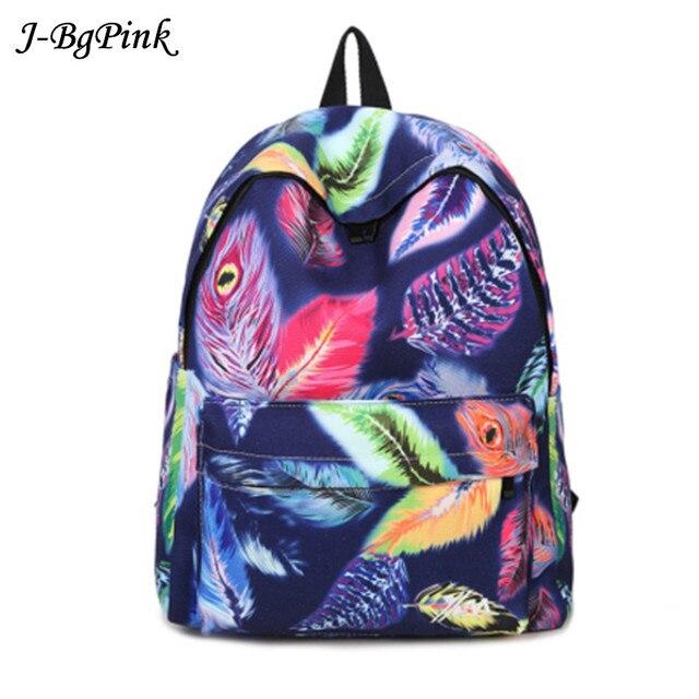 Canvas zainetto donna  Teenage Girls School Bags Kids Cartoon Printing Backpacks Students Large Book Bag mochila Blue Black