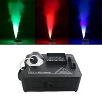 Remote 7CH DMX RGB 1500W Fog Smoke Machine Full Color Firework Fogger for Disco Bar DJ Party Beam Stage Lights Show System ASD15
