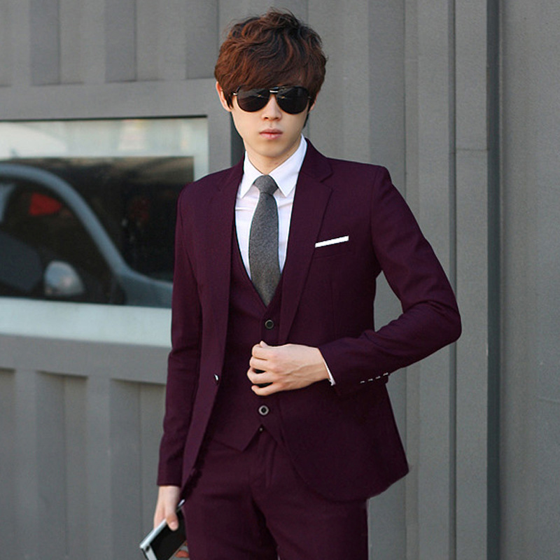 cfce31ae2345 2015 new men's Korean three piece Slim small suit casual groom wedding  dress of men's suits-in Suits from Men's Clothing on Aliexpress.com |  Alibaba Group