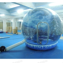 цена на Inflatale photo booth christmas Inflatable snow globe ball blow up snowball snow balloons for outdoor decoration Advertisement