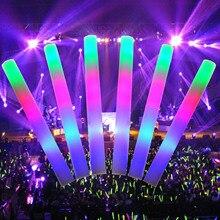 TAOS 50 шт. LED Красочный концерт группы клуб Cheer губка светящиеся Glow Щупы для мангала
