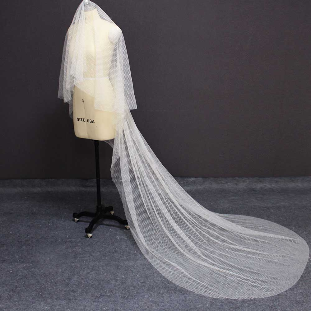 New Champagne Long Wedding Veil WITHOUT Comb 3 Meters Cathedral One Layer Bridal Veil Wedding Accessories