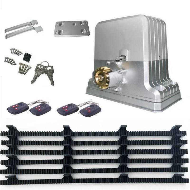 heavy duty 2800lbs 1500kg electric sliding gate motors automatic gate opener engine 6m racks 1photocel GSM