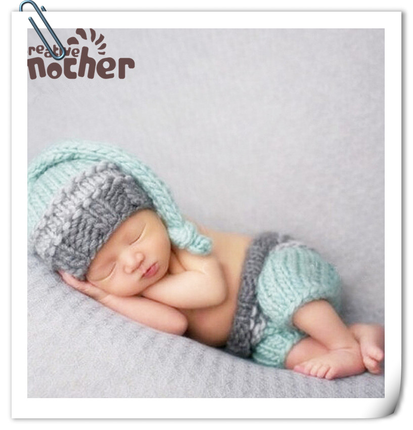 Newborn Props Photography Accessories <font><b>Baby</b></font> <font><b>Clothes</b></font> Photography Knitted Hat+Pants Set <font><b>Baby</b></font> <font><b>Photo</b></font> Props Accessory <font><b>New</b></font> <font><b>Born</b></font> <font><b>Photo</b></font> image