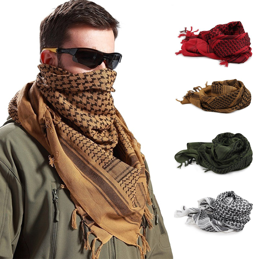 Wrap  Scarf Hiking Outdoor Camping Cycling Neck Travel Shawl Cover Muslim Face Veil Tassel Ends Men Women