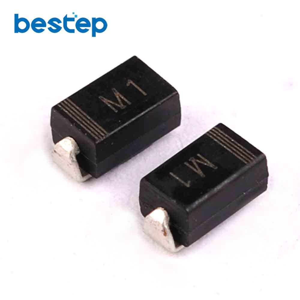 100pcs Diode M1 1n Smd 1a 50v Rectifier Diode In