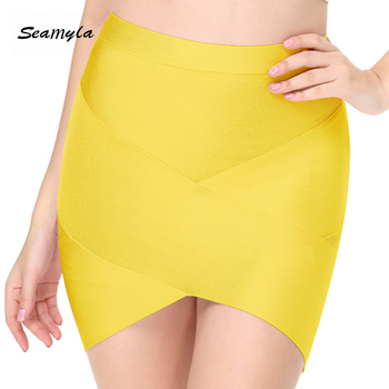 Seamyla 2019 New Fashion Women Skirts Sexy Celebrity Party Bodycon Bandage Pencil Skirt Night Out Club Mini Skirts Wholesale