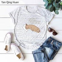 S-5xl Plus Size Casual Loose Womens Tees Summer New Cute Animal Puppy Print Harajuku Round Neck Short Sleeve Cotton T-shirt Top