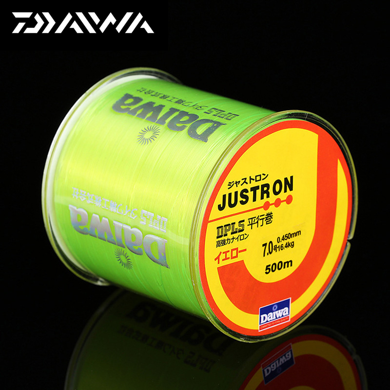 DAIWA 500m Nylon Fishing Line Japansk Holdbar Monofilament Rock Sea Fishing Line Super Sterk Daiwa Justron Carp Match Fishing