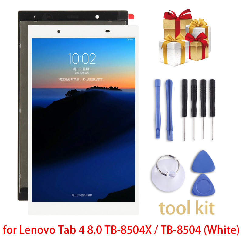New for Lenovo Tab 4 8.0 TB-8504X / TB-8504 LCD Screen and Digitizer Full Assembly repair parts new sis 2017 full parts and repair flash 2016 hdd500g activator for unlimited installation for cat