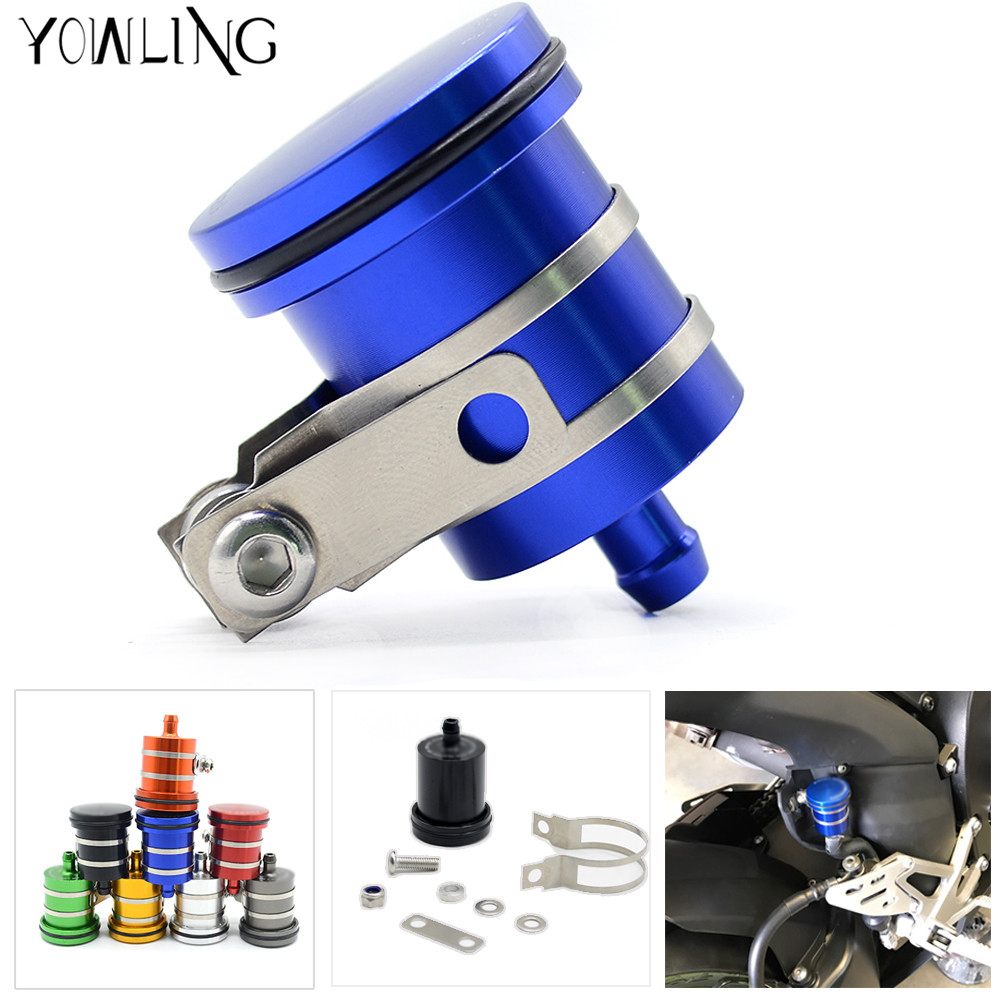 Motorcycle Fluid Reservoir Billet Rear Brake Clutch Tank Oil Cup for honda hornet 600 cbr 600 cb 750 cb400 cb1300 cbr 1000 rr aftermarket free shipping motor parts for motorcycle 1989 2007 suzuki katana 600 750 billet oil brake fluid reservoir cap chrome