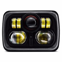 5x7 Projector 7x6 LED Headlight Bulb Set Sealed Beam OffRoad Headlamp Light for Jeep Cherokee XJ Nissan Motorcycle ( Pack of 1)