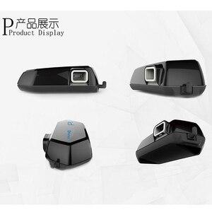 Image 5 - Moto A1 IPX6 Waterproof Boomless Mic Helmet Bluetooth Headset Motorcycle Comunicador Capacete Headphone Speaker for 2 Phones GPS