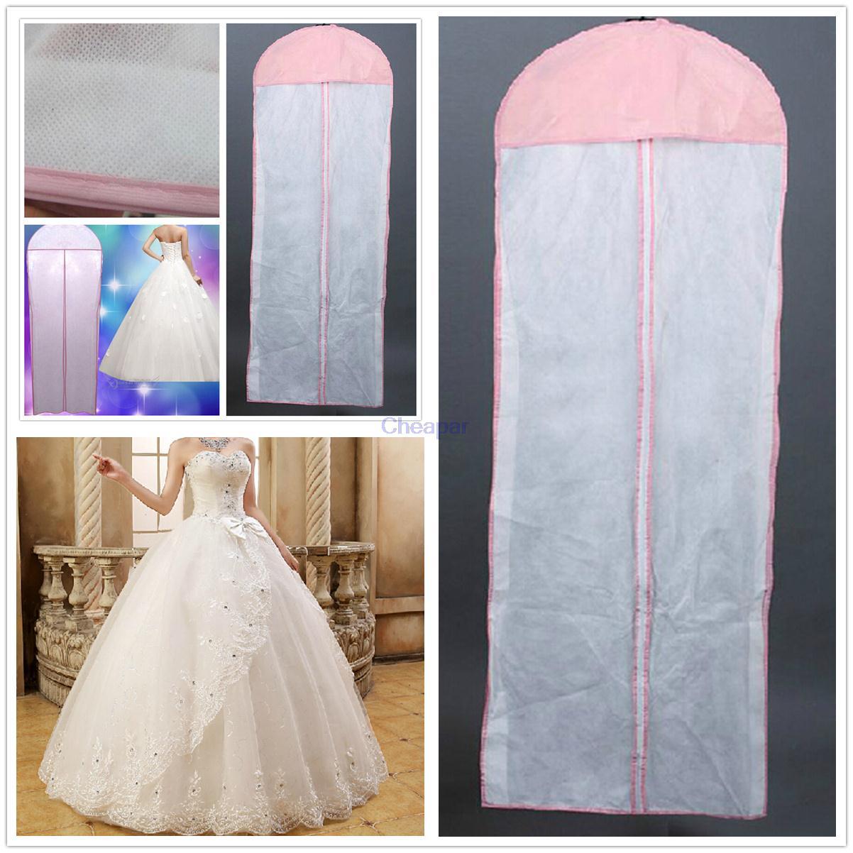 Новые белые дышащие свадебные платье для выпускного вечера свадебное платье одежда висит сумка для хранения одежды Пылезащитный чехол мол...
