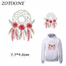 ZOTOONE Iron on Stickers Patches for Clothes Beautiful Dreamcatcher Patch DIY Accessory Heat Transfer Appliques C