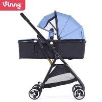 Vinng, двунаправленный Высокая Пейзаж коляска, детские коляски, легкий, может сидеть может лежать
