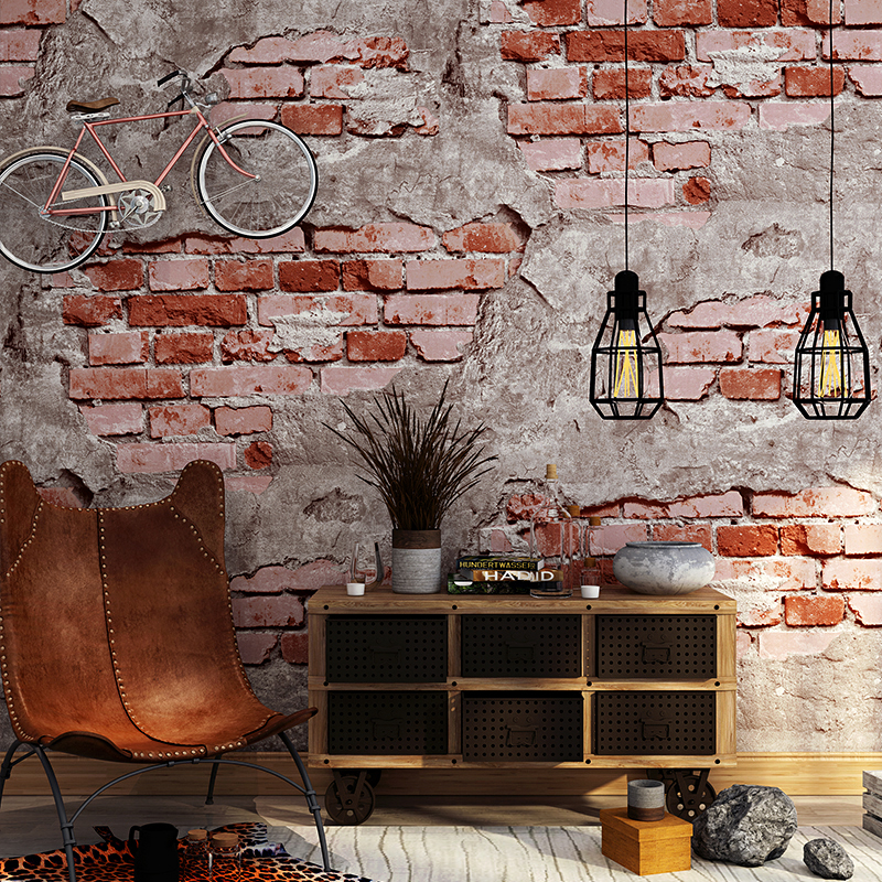 Modern Broken Brick Wallpapers 3D Personalized Vintage Cement Grey Wall Paper Roll for Shop Bar Background Walls contact paper цена